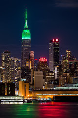 Empire State Building on Saint Patrick's Day.