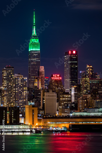 Empire State Building on Saint Patrick's Day. - 62626498