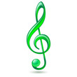 Green treble clef