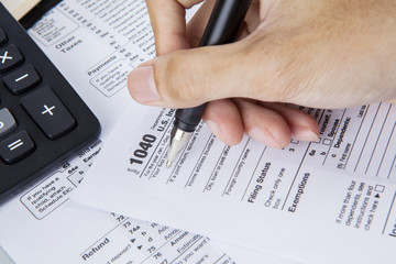 Filling 1040 tax form