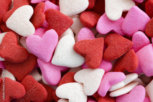 A lot of sweet hearts