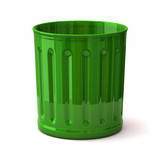 Illustration of green trash can