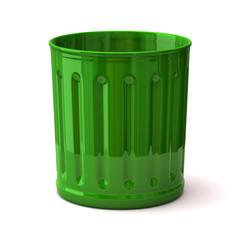 Illustration of green trash can