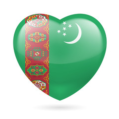 Heart icon of Turkmenistan