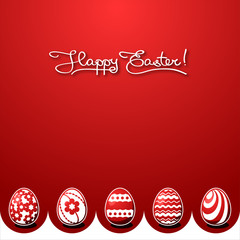 easter egg on holiday colorful background