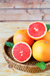 ripe grapefruit halves