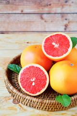 ripe grapefruit halves
