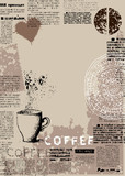 Vertical coffee background