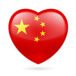 Heart icon of China