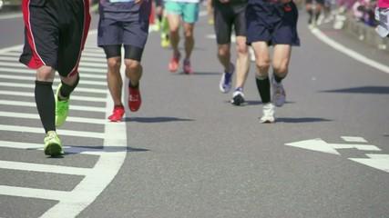 スローモーションのマラソン(ランニング)