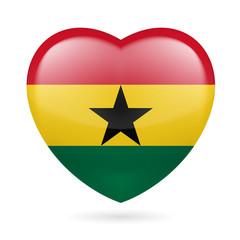 Heart icon of Ghana