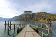 A pier for boat trips on Achensee Lake during Autumn in Austria