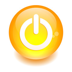 bouton internet power icon orange