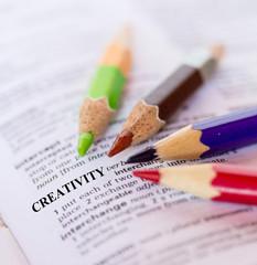 The word CREATIVITY
