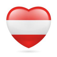 Heart icon of Austria