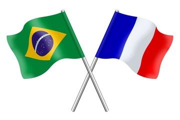 Drapeaux : Duo Brésil France