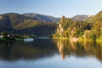 Slovakia - Ruin of castle Strecno