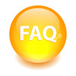 bouton internet question FAQ icon orange