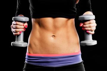 Muscular female belly
