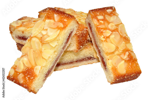 Raspberry Almond Cake Slices