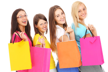 Friends on shopping
