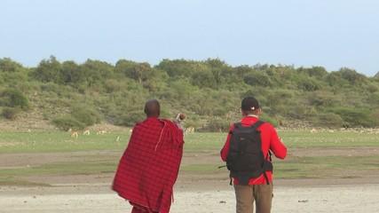 trekking avec un masaï
