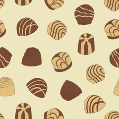 Chocolate praline seamless