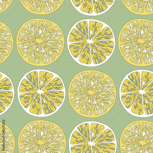 Lemon seamless background
