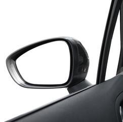 specchio retrovisore in fondo bianco