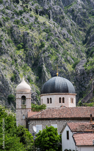 Domes Under Montenegro Cliffs