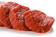Raw beef on white background