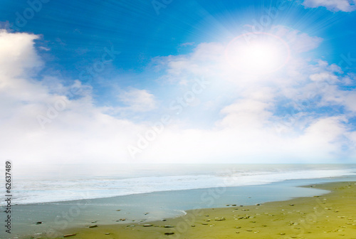 image beautiful seashore and sunny sky