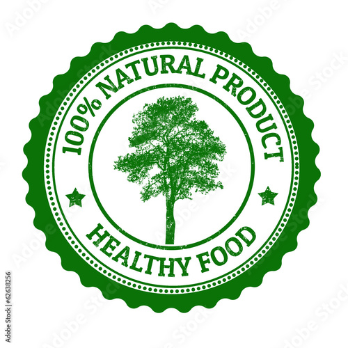 100 Percent Natural Product stamp