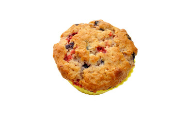 Top View of a Berry Muffin