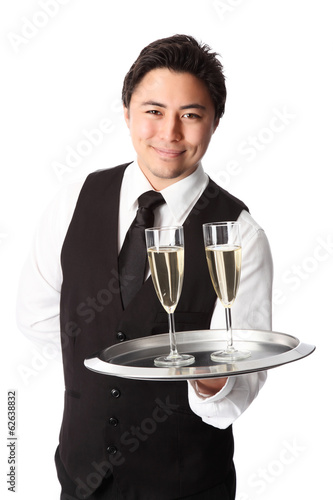 Attractive waiter