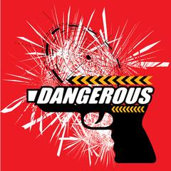 DANGEROUS GUN VECTOR