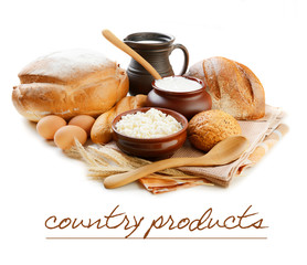 Dairy products and bread