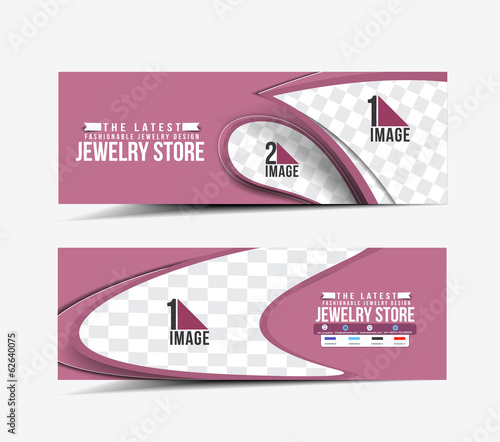 jewellery Store Design Banner Template