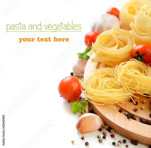 pasta and vegetables, Italian cuisine
