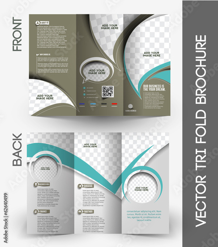 Corporate Business Store Tri-Fold Mock up & Brochure Design