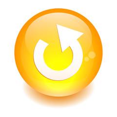 bouton internet rejouer icon orange