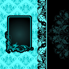 Vector frame on seamless background