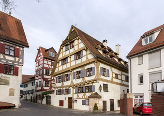 Traditional timbered house in Ulm, Germany