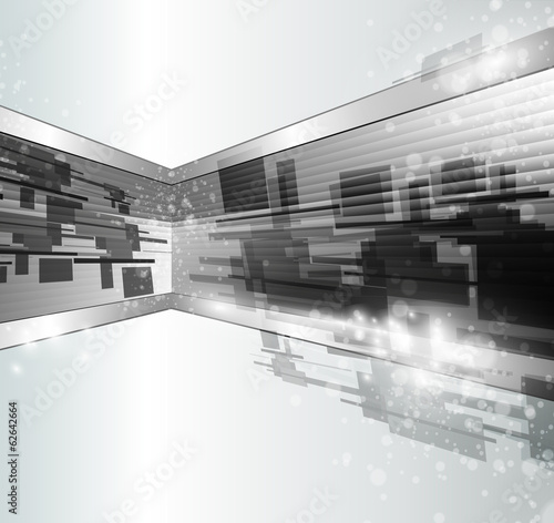 Abstract background 3d, elegant grey