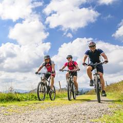 fröhliche Mountainbike-Runde