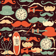 Retro vintage seamless pattern.