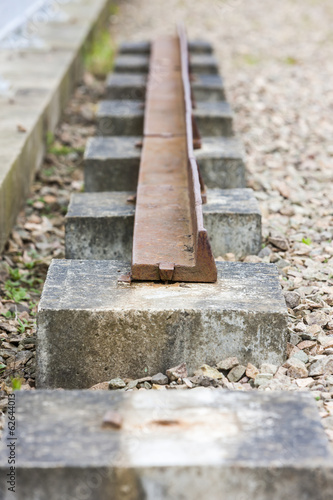 out of action track on Laigh Milton Viaduct, East Ayrshire, Scot