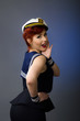 Pin up girl wearing a sailor suit