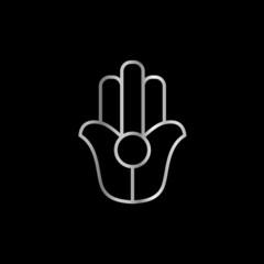 Palm of hand Natib Qadish- religious symbol