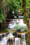 Fototapeta Huay mae kamin waterfall in Thailand